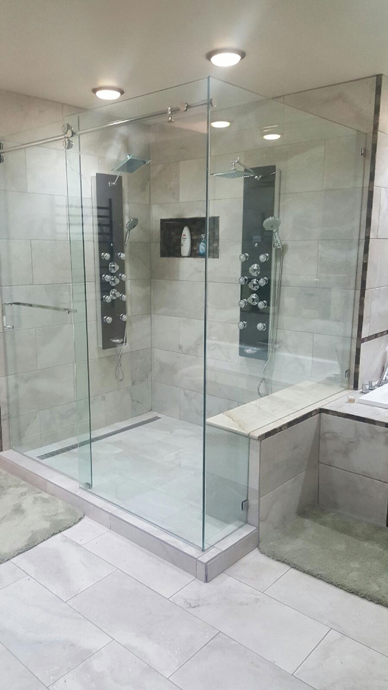 bathroom shower upgrade